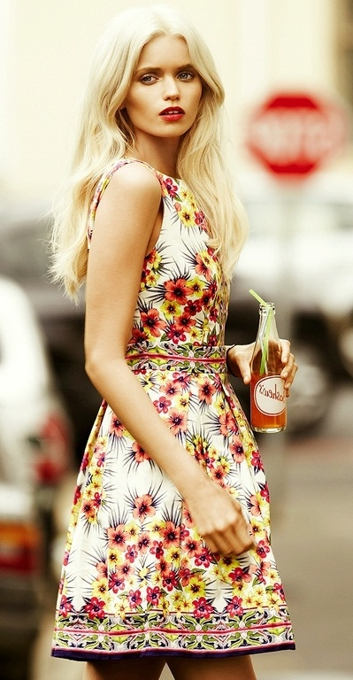 Fl Print Summer Dress