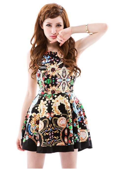 Cute Casual Summer Dress With Wild Print Pictures Photos
