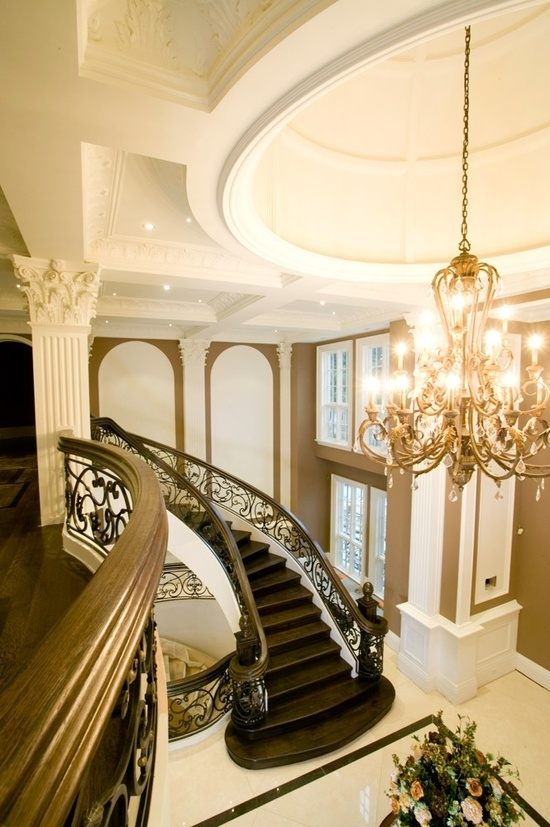 Foyer Luxury Nails : Interior design mansion mansions indoor pool
