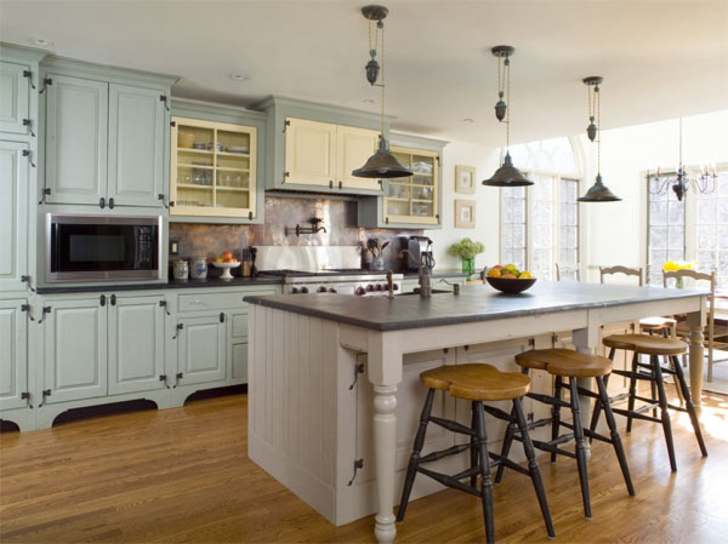 Modern kitchen with a vintage flair pictures photos and for Modern country kitchen design ideas