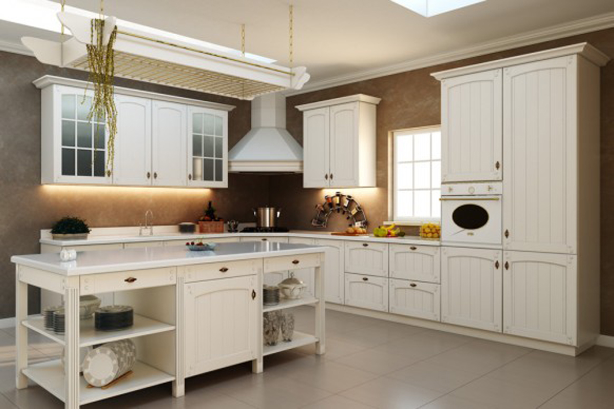 all white country kitchen 1493