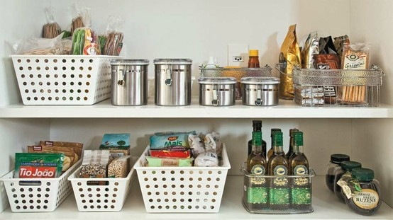 Pantry organization with baskets pictures photos and - Ideas para organizar armarios ...