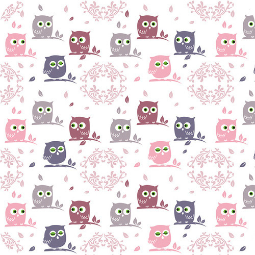 girly owl pattern