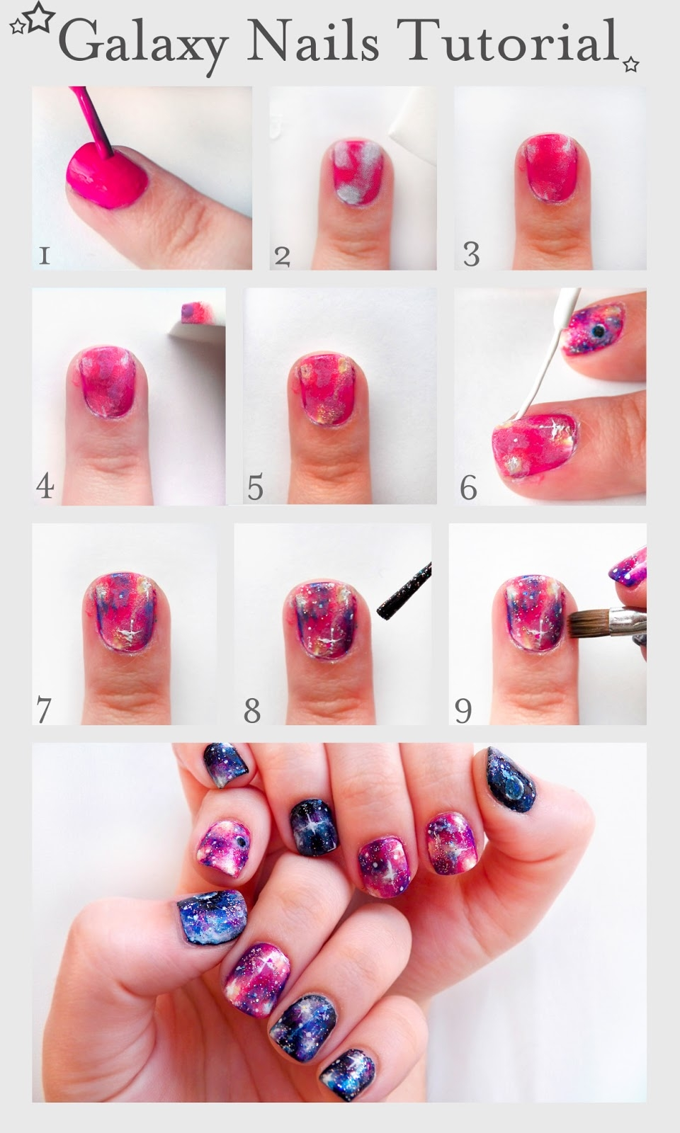 Galaxy Nails Tutorial Pictures, Photos, and Images for Facebook ...