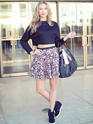 Mini Skirt & Crop Top Outfit Pictures, Photos, and Images for ...