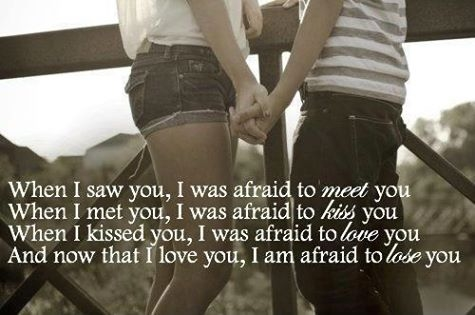 love it i m afraid to lose you