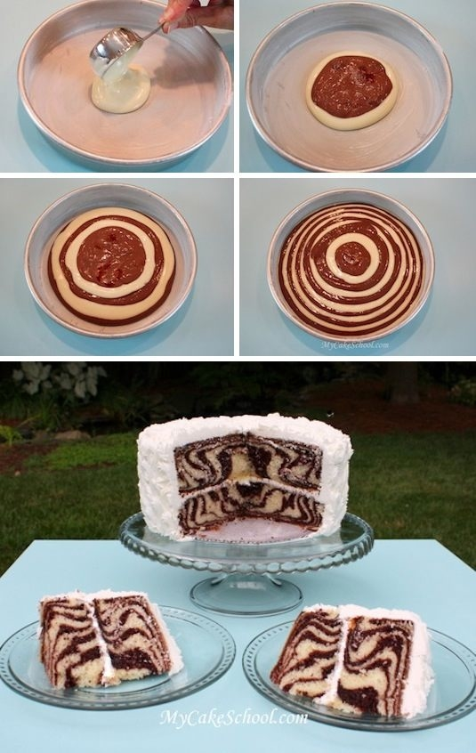 How To Make Tiger Stripes On A Cake