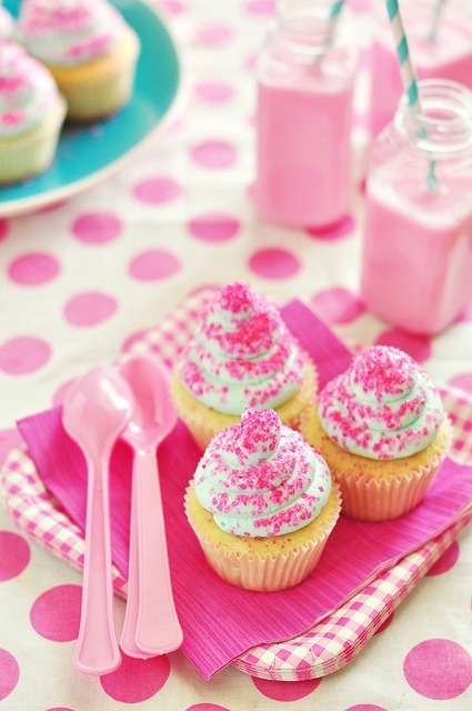 Pink Sprinkles On Cupcakes Pictures, Photos, and Images for