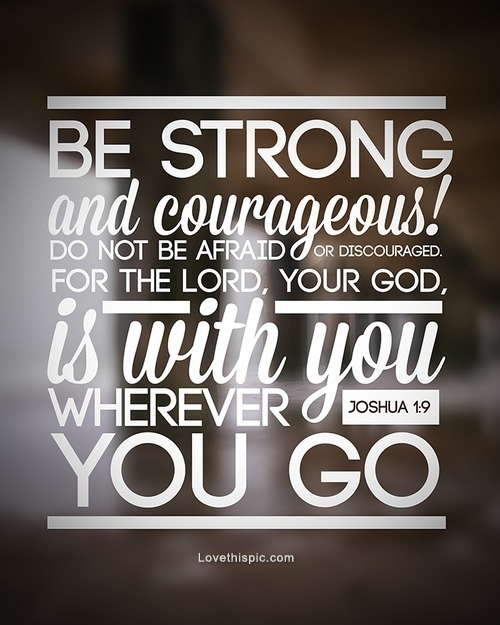 Nursery Decor - Be Strong and Courageous Bible Verse Decal - Wall ...