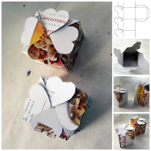 Diy cereal box gift box tutorial pictures photos and for What to make out of cereal boxes