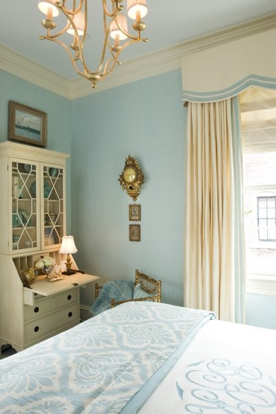 Powder blue bedroom