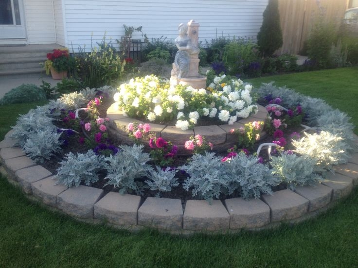 Circle garden pictures photos and images for facebook - Circular flower bed designs ...