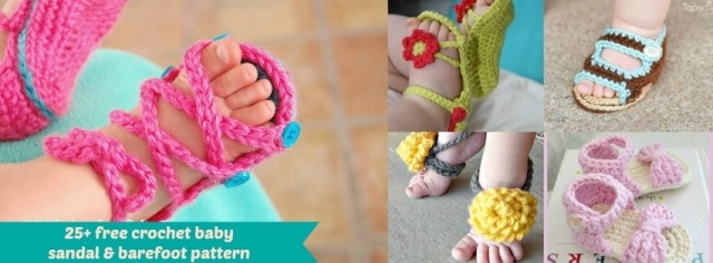 25 Free Crochet Baby Sandals Patterns Pictures Photos And Images