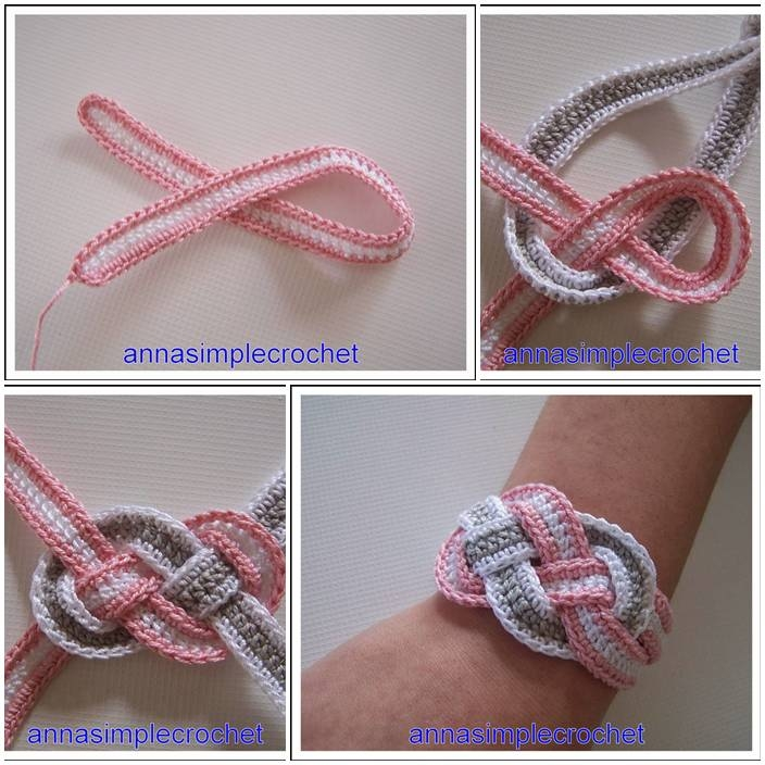 Crocheting Easy Projects : DIY Crochet Bracelet Tutorial Pictures, Photos, and Images for ...