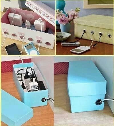 Diy shoe box charging cord organizer pictures photos and images diy shoe box charging cord organizer solutioingenieria Image collections