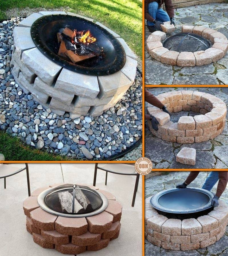 Diy fire pit pictures photos and images for facebook for Do it yourself fire pit designs