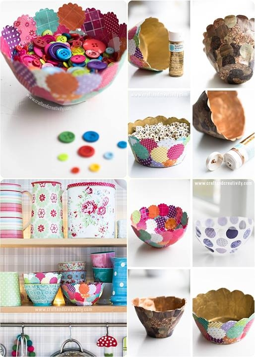 DIY Paper Bowls Tutorial Pictures, Photos, and Images for ...