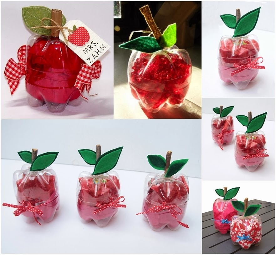 Make plastic bottles apple shaped boxes pictures photos for Diy apple boxes