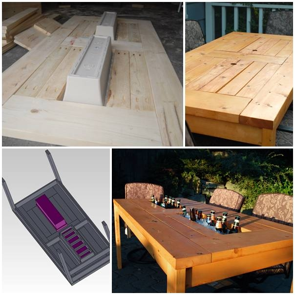 Diy patio table with built in coolers pictures photos and images diy patio table with built in coolers solutioingenieria Images
