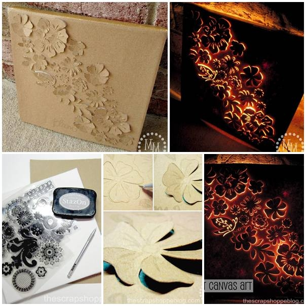 DIY Backlit Canvas Art Pictures, Photos, and Images for ...