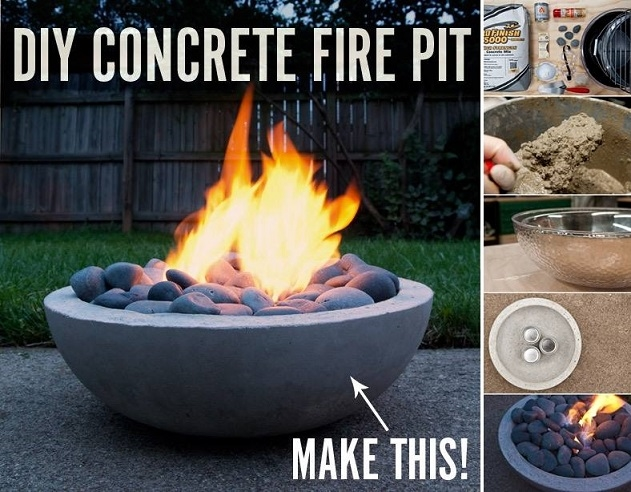 Diy Concrete Fire Pit Tutorial Pictures Photos And
