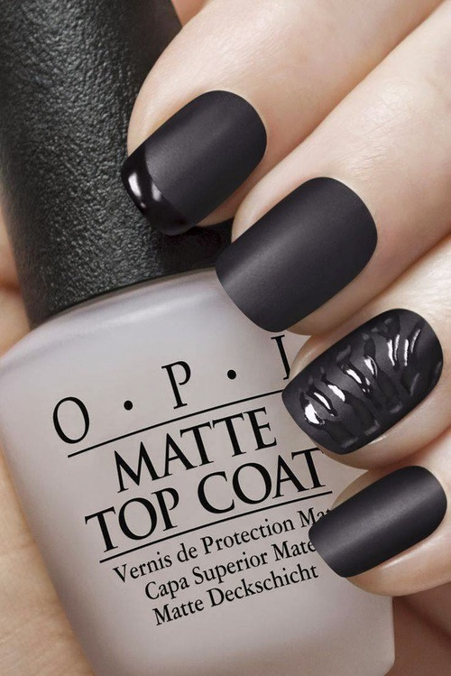 Black Matte Nails Pictures, Photos, and Images for Facebook, Tumblr ...