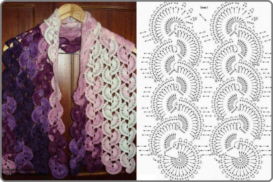 Facebook Crochet Patterns : Crochet Scarves Pattern Tutorial Pictures, Photos, and Images for ...