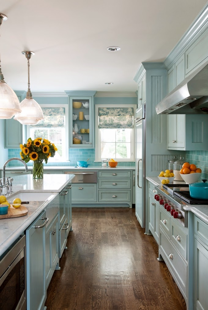 Pale teal kitchen pictures photos and images for for Kitchen ideas tumblr