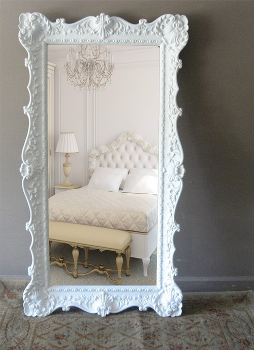 Huge white mirror pictures photos and images for for Mirror that look
