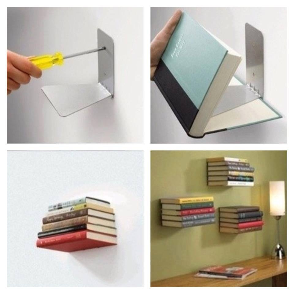 DIY Invisible Bookshelf Pictures Photos And Images For Facebook