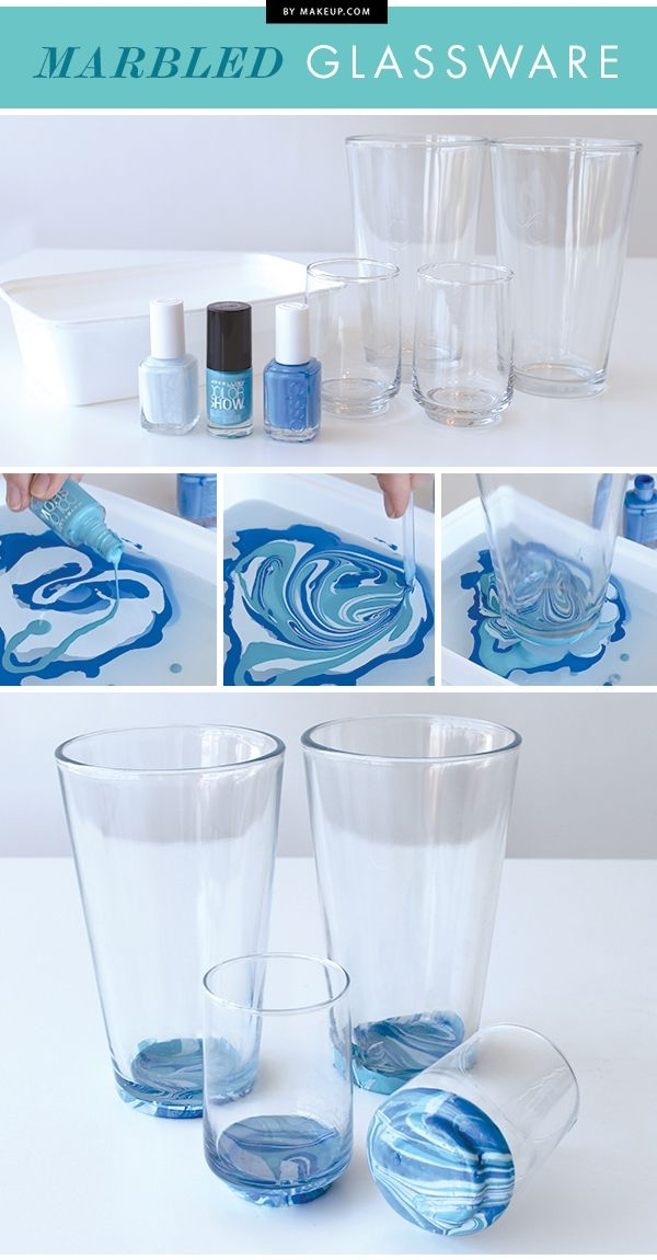 diy marbled glassware pictures photos and images for