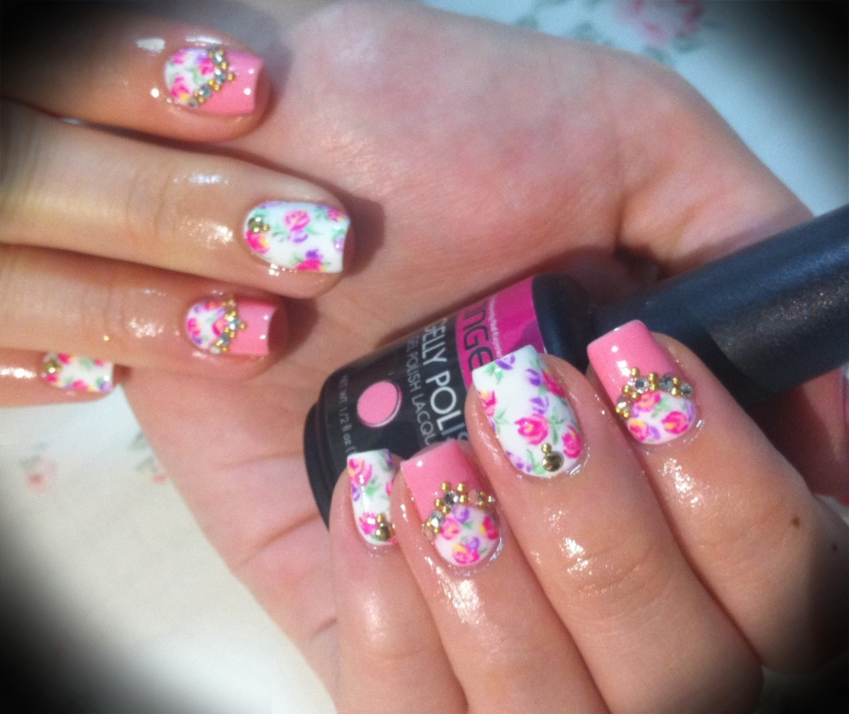 Floral Print Nail Art Pictures Photos And Images For Facebook
