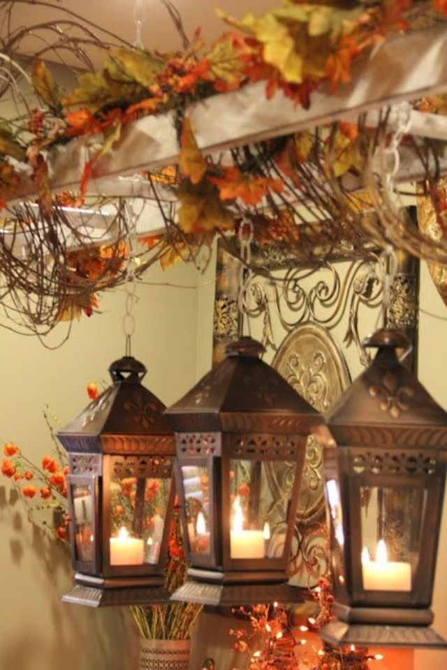 Rustic Autumn Lanterns Pictures Photos And Images For
