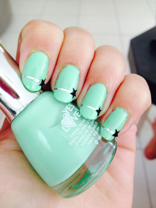 Turquoise Star Nails Pictures Photos And Images For Facebook