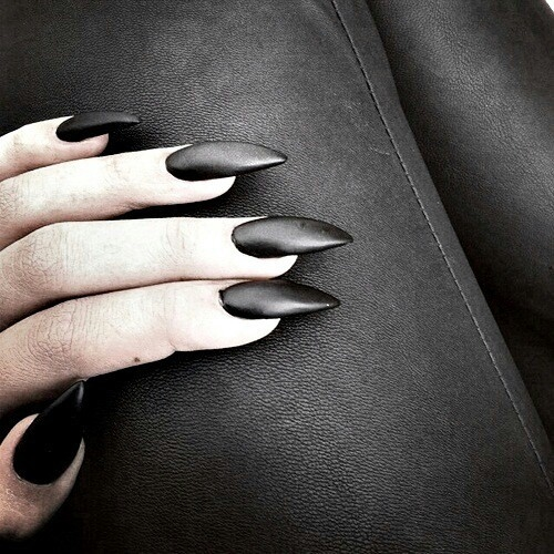 Gothic Stiletto Nails