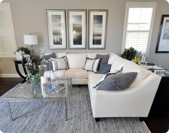 Gray White Living Room