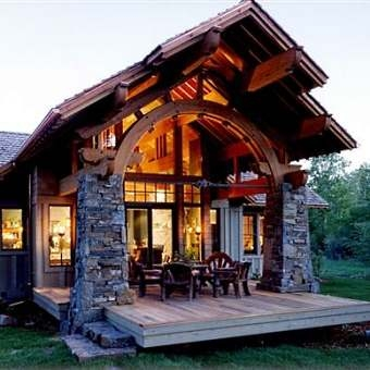 Modern But Rustic Cabin Design Pictures Photos And
