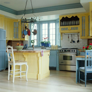 Blue And Yellow Kitchen Pictures Photos And Images For