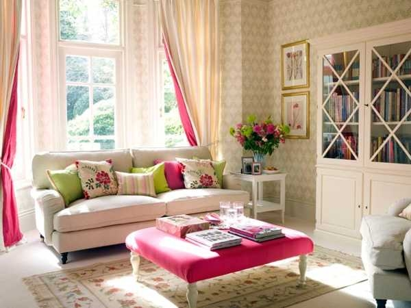 Pretty living room with pink accent pictures photos and images for facebook tumblr pinterest - Pretty green rooms ...