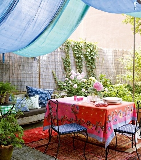 Wonderful Outdoor Dining Area Design And Decorating Ideas: Boho Outdoor Dining Area Pictures, Photos, And Images For