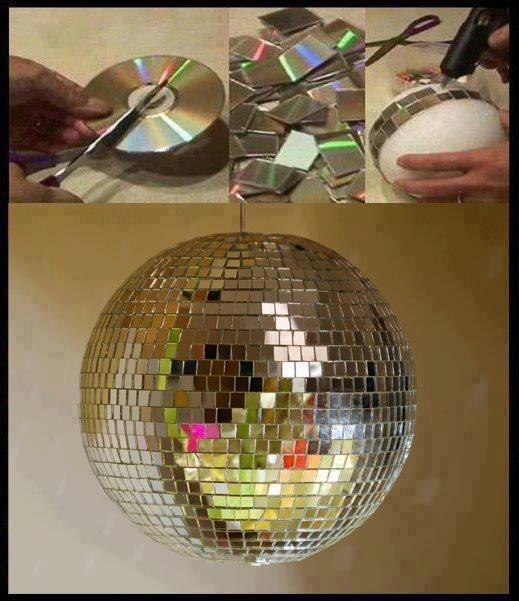 Как сделать зеркальный шар своими руками