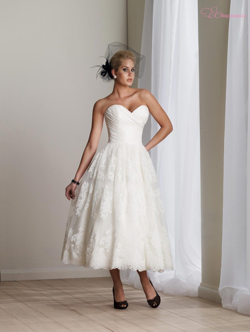 Short ivory strapless wedding dress pictures photos and for Ivory short wedding dress