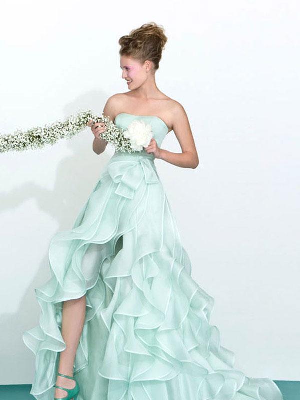Green Ruffles Dress