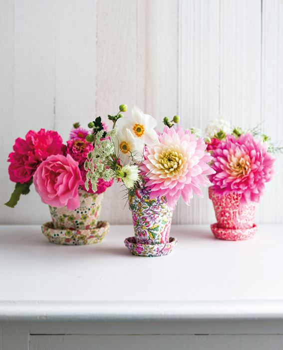 Small Flower Pots as Vases