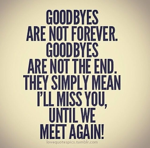 Forever Quotes Tumblr: Goodbyes Are Not Forever Pictures, Photos, And Images For