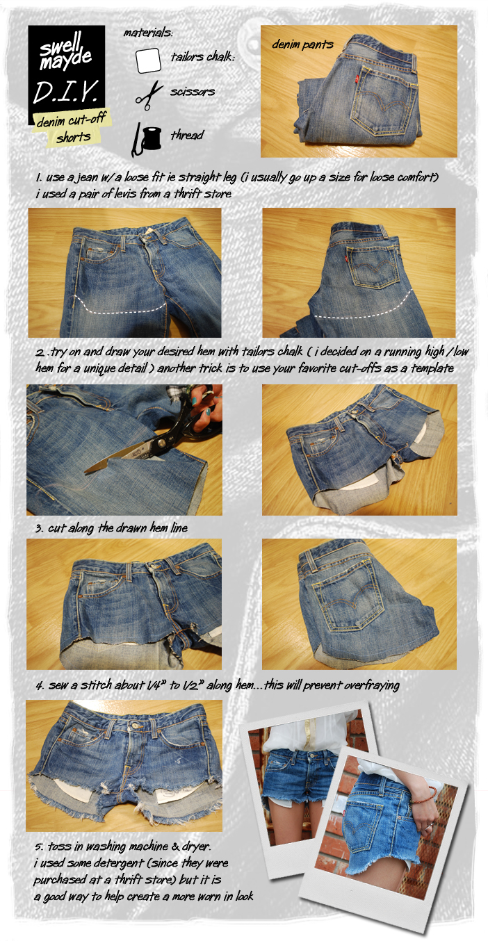 DIY Denim Cut Off Shorts Pictures, Photos, and Images for ...