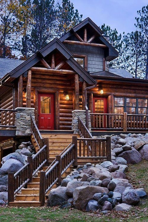 Huge country cabin pictures photos and images for for Large luxury log homes