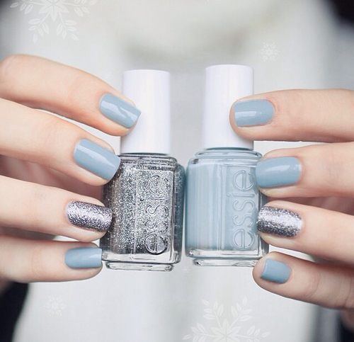 Nail Color Combinations 2017: Classy Blue Nails Pictures, Photos, And Images For