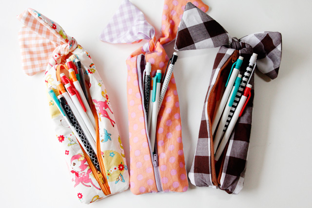 knotted zipper pencil pouch tutorial pictures photos and images