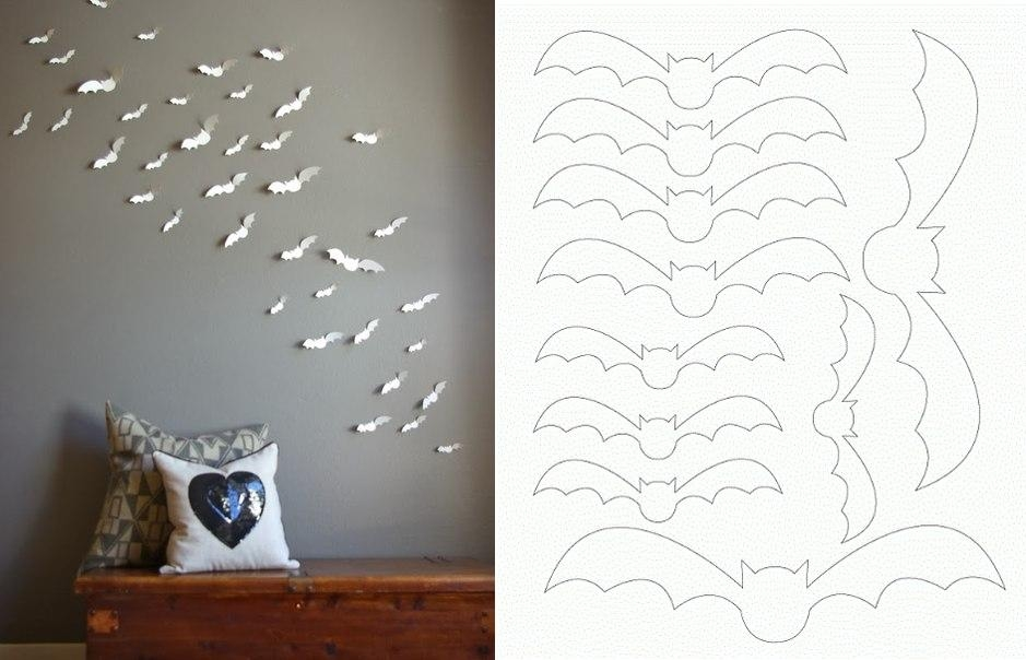 Wall Designs With Craft Paper : Diy paper bat wall art pictures photos and images for